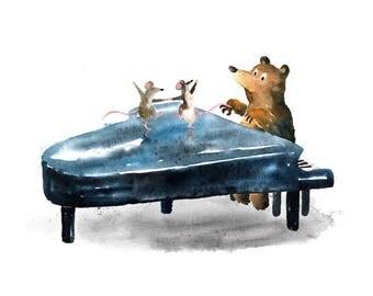 Dancing Mice Print