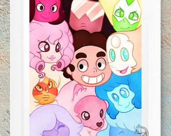 Steven Universe / Anime / Poster / Print / Picture / Geek / Nerd / Gamer