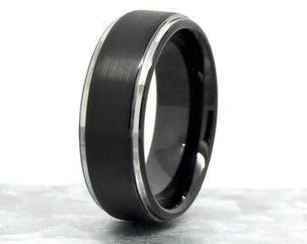 Tungsten Ring, Tungsten Band, Tungsten Ring Men, Mens Wedding Band, Promise Rings for Him, Engagement Ring Men, Laser Engrave Ring for Him