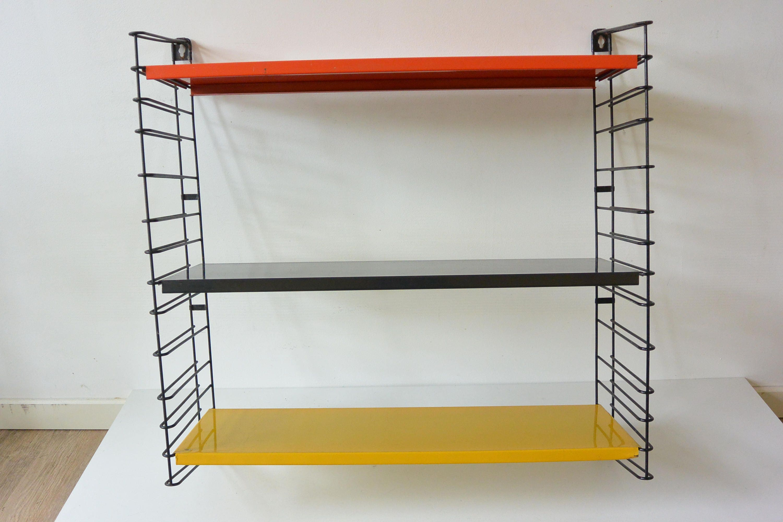 Tomado Book Rack Unit Mid Century Modern SHINY 3 shelves modular