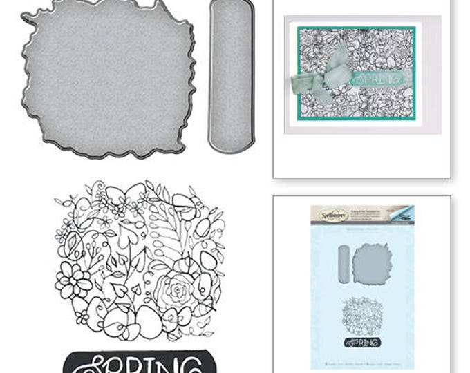 Featured listing image: Spellbinders Spring Stamp and Die Set from the Spring Love Collection by Stephanie Low SDS-056