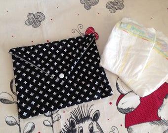 Trendy baby diaper clutch