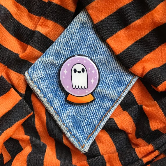 Crystal Ghost Pin