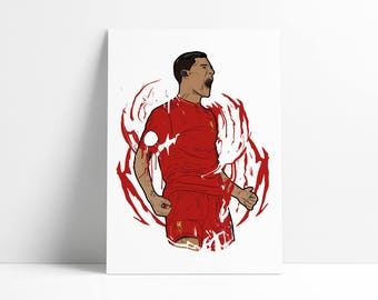 Philippe Coutinho (Liverpool FC) A4 Poster