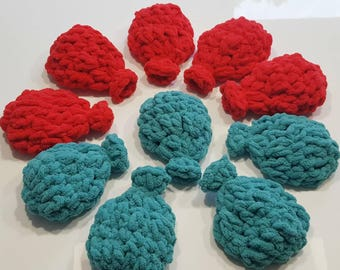 Set of 10 Reusable Water Balloons/Crochet Water Balloons/Eco Friendly Water Balloons/Birthday Party/Crochet Balloons/Party Activity
