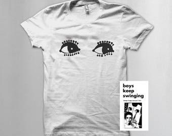 """Twiggy Mod """"eyes"""" t shirt"""