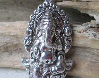 Trailer * Ganesha * elephant God * charm * Yoga * Lord Ganesh * pendants * ethnic * Asian * jewelry * 65 x 32 mm