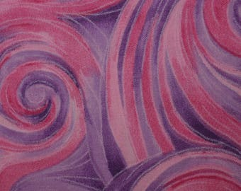Quilt Fabric Quilting Fabric Cotton Calico Pink & Purple Swirls: Fat Quarter 17x20