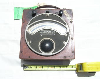 Early 1900's General Electric A.C. Voltmeter