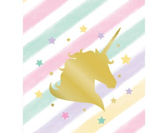 My Sweet Unicorn Favor bags/ unicorn Party theme  / Unicorn Party/ treat bags/ goody bags/ unicorn favor bags