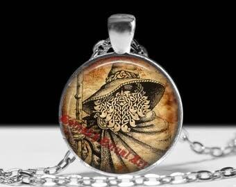 Odin pendant, Viking jewelry, Pagan necklace  #474