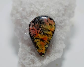 Feather Ridge Plume Agate Doublet Cabochon