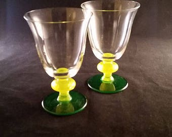 Set  of 2 Very Summer Table Goblets