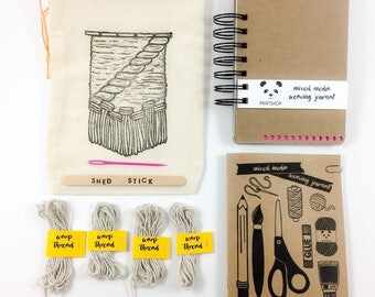Mixed Media Weaving Journal - Art Journal - Visual Journal - Travel Journal - 4x6in
