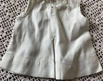 Antique White Cotton Doll Dress Slip