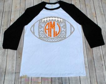 Football Monogram Tank Top-Football Shirt-Football Mom-Cute Football Shirt-Football Clothing-Mom Clothes-Game Day Shirt