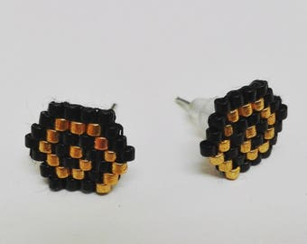 Stud Earrings with miyuki beads