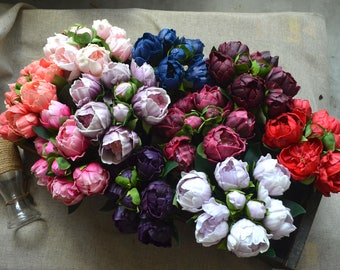 Real Touch Peonies Blush Pink White Burgundy Peonies For Wedding Flowers Bouquets Centerpieces