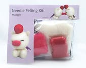 Make Your Own Moogle. Needle Felt Kit