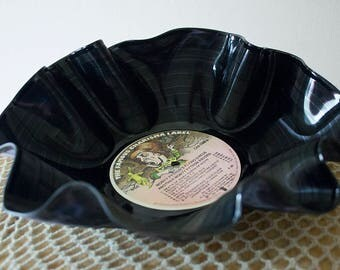 vinyl record bowl - 12 inch