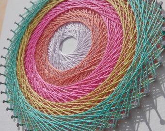 Peinture g om trique etsy for Tableau geometrique pastel