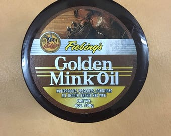 Fiebing Golden Mink Oil Leather Preserver 6oz