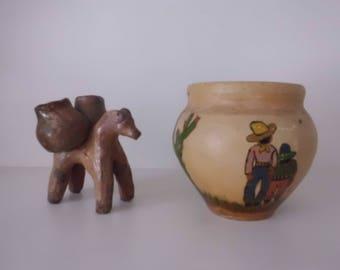 Vintage Souvenir Mexican Pottery
