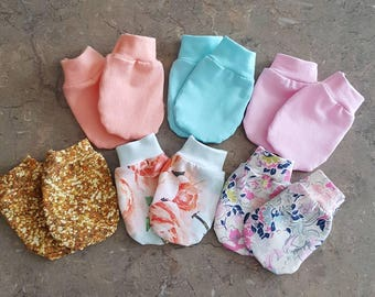 Baby Mittens, Jersey knit mitts, Newborn baby Mittens baby boy mittens or Baby Girl Mittens one for 4 dollars or Pick 3 for 10 Dollars