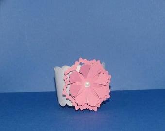 Napkin small beaded flower