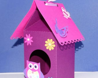Colorful owls nest box