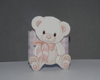 Mark up Teddy bear pink and napkin rings
