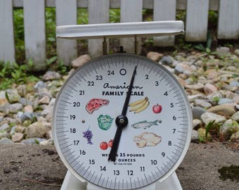 Vintage American Family Scale, Vintage Kitchen Scale