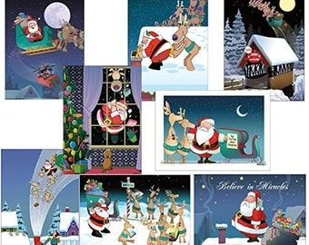 Funny Christmas Card Variety Pack 24 Cards & 25 Envelopes - 80