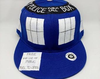 Tardis Hat TARDIS Hat Doctor Who Hat Blue Box Hat Police Box Hat Sonic Screwdriver Thirteenth Doctor Twelfth Doctor Eleventh Doctor