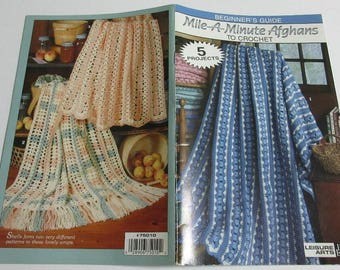Mile-A-Minute Afghans to Crochet, Leisure Arts Little Books 75010