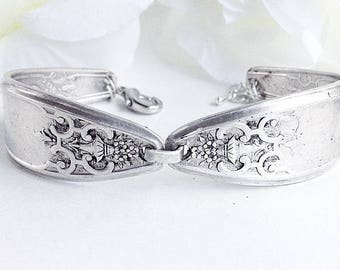 For Her, Spoon Bracelet, Silverware Bracelet Silver Spoon Jewellery, Antique  Silver Bracelet, Vintage Silverware Bracelet,  Spoon Jewelry