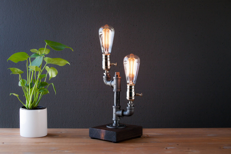 Edison lamp/Rustic decor/Unique Table lamp/Industrial