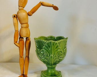 Vintage ceramic planter| planter| green planter| ornament planter|