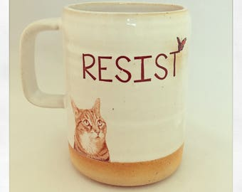 Resist- Push Push the Cat 2018 Mug