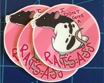 Critter Sticker: I Don't Give A Rat's Ass