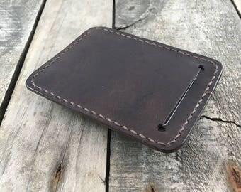 Thin minimalist leather wallet Thin leather wallet Slim leather wallet Minimal leather wallet Credit card wallet Leather card holder wallet