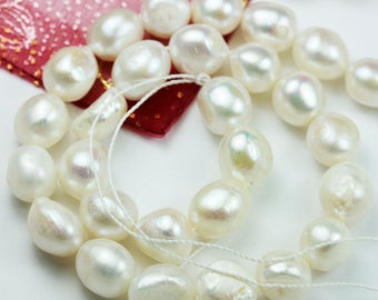 """11-12mm Cultured Freshwater Pearl Strand,white, 16""""-PLF8134"""