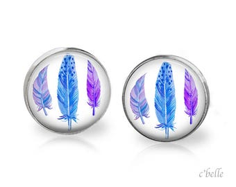 Earrings feather feather - 33