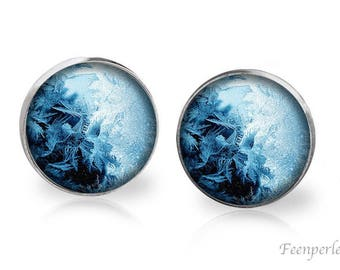 Stud Earrings Frosted 18