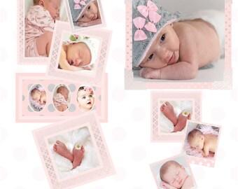 pink silver frames digital frames baby frames scrapbook frames frame psd
