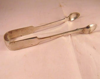 Large Antique Silver Plated Sugar Tongs by Joseph Gilbert