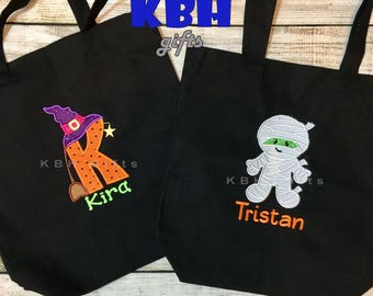 Embroidered trick or treat bag