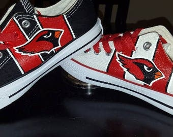 custom Arizona CARDINALS men and women sports fan hand painted shoes!