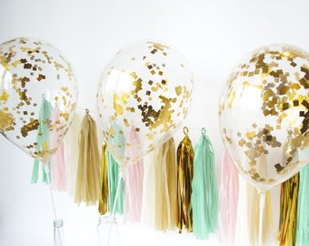 3 confetti balloons gold birthday balloons party decorations party balloon gold confetti balloons