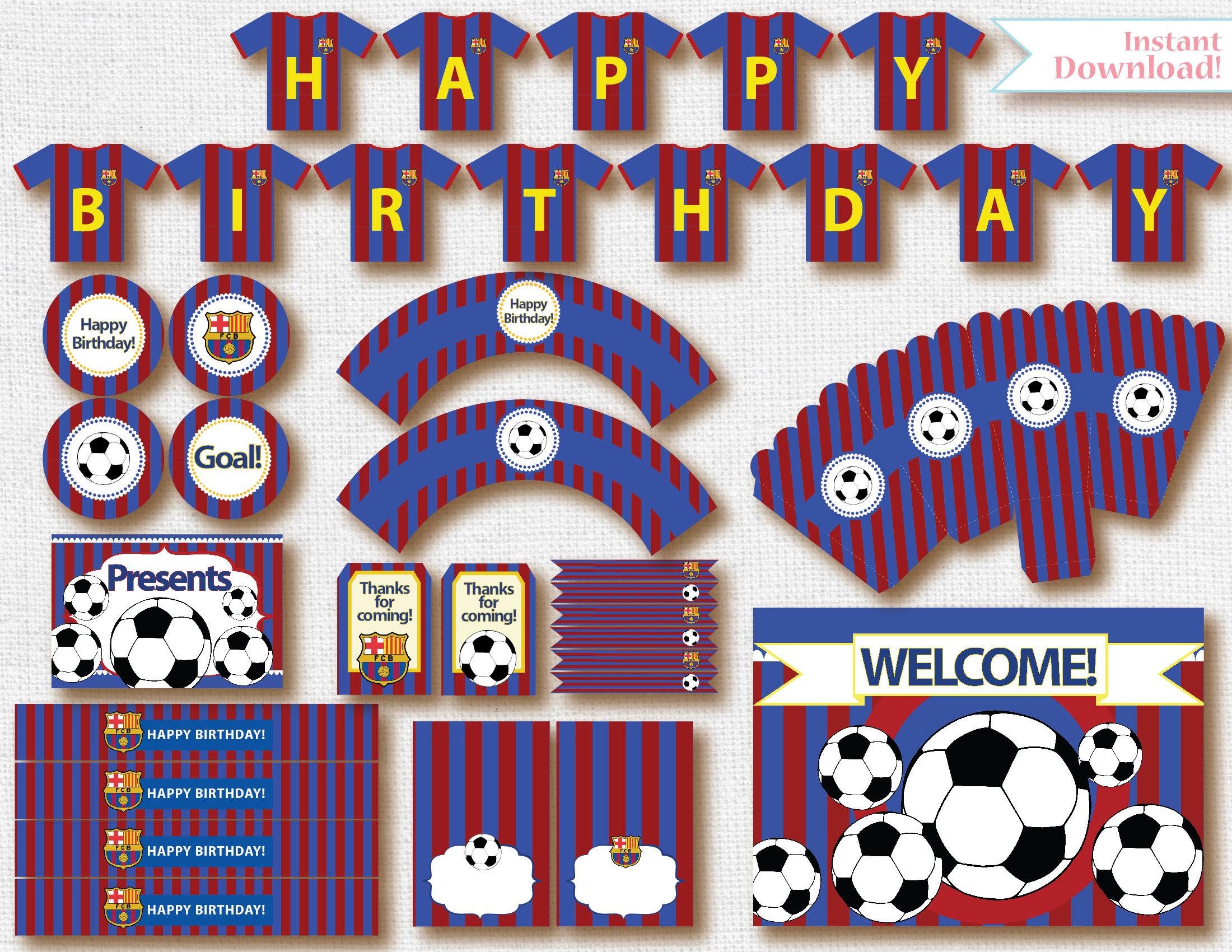 Kit de futbol imprimible para cumplea os - Lucio barcelona decoracion ...
